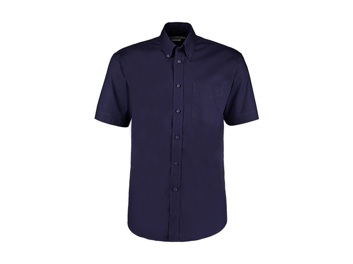 Kustom Kit Classic Fit Premium Oxford Shirt SSL, Midnight Navy, M bedrucken, Art.-Nr. 784112053