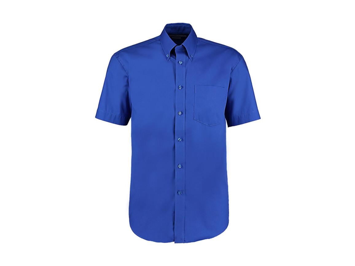 Kustom Kit Classic Fit Premium Oxford Shirt SSL, Royal, S bedrucken, Art.-Nr. 784113001