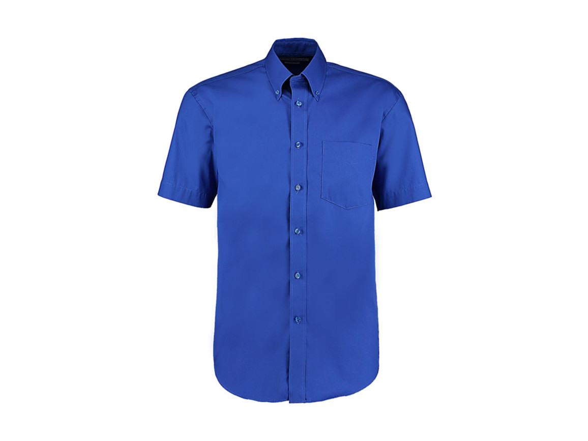 Kustom Kit Classic Fit Premium Oxford Shirt SSL, Royal, XL bedrucken, Art.-Nr. 784113007