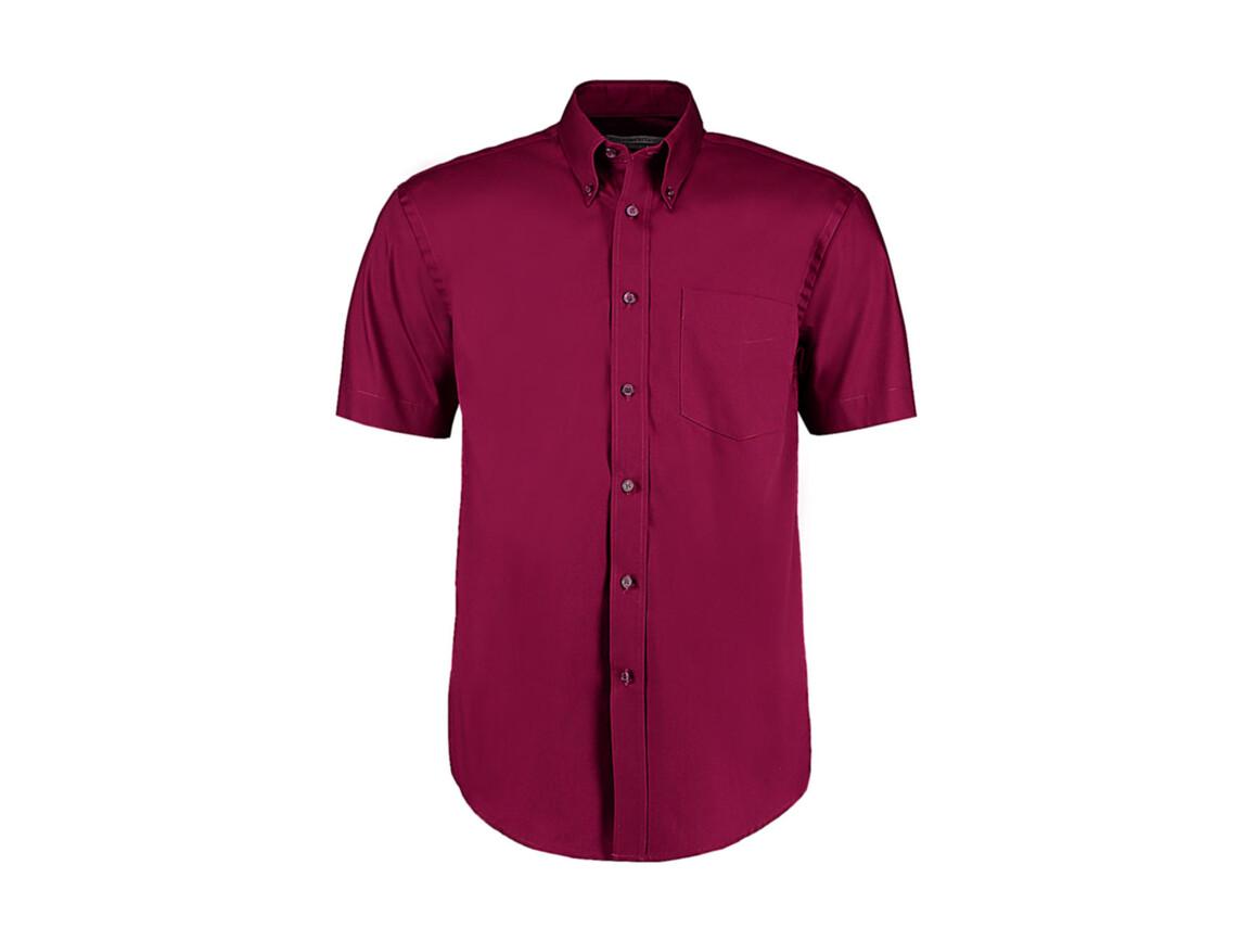 Kustom Kit Classic Fit Premium Oxford Shirt SSL, Burgundy, L bedrucken, Art.-Nr. 784114485