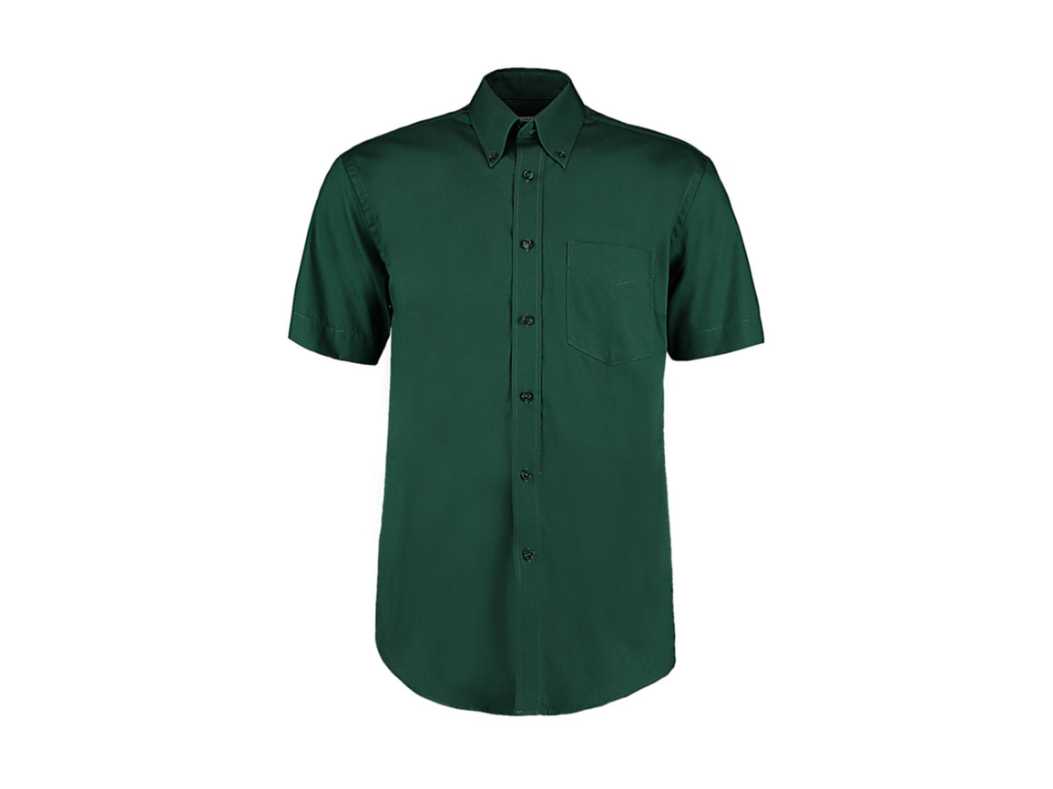 Kustom Kit Classic Fit Premium Oxford Shirt SSL, Bottle Green, XL bedrucken, Art.-Nr. 784115407