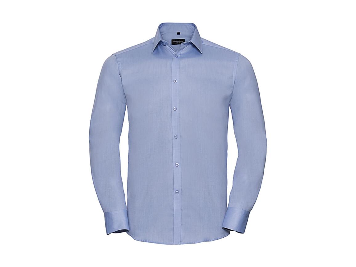 """Russell Europe Men`s LS Herringbone Shirt, Light Blue, 4XL (19.5"""") bedrucken, Art.-Nr. 789003219"""