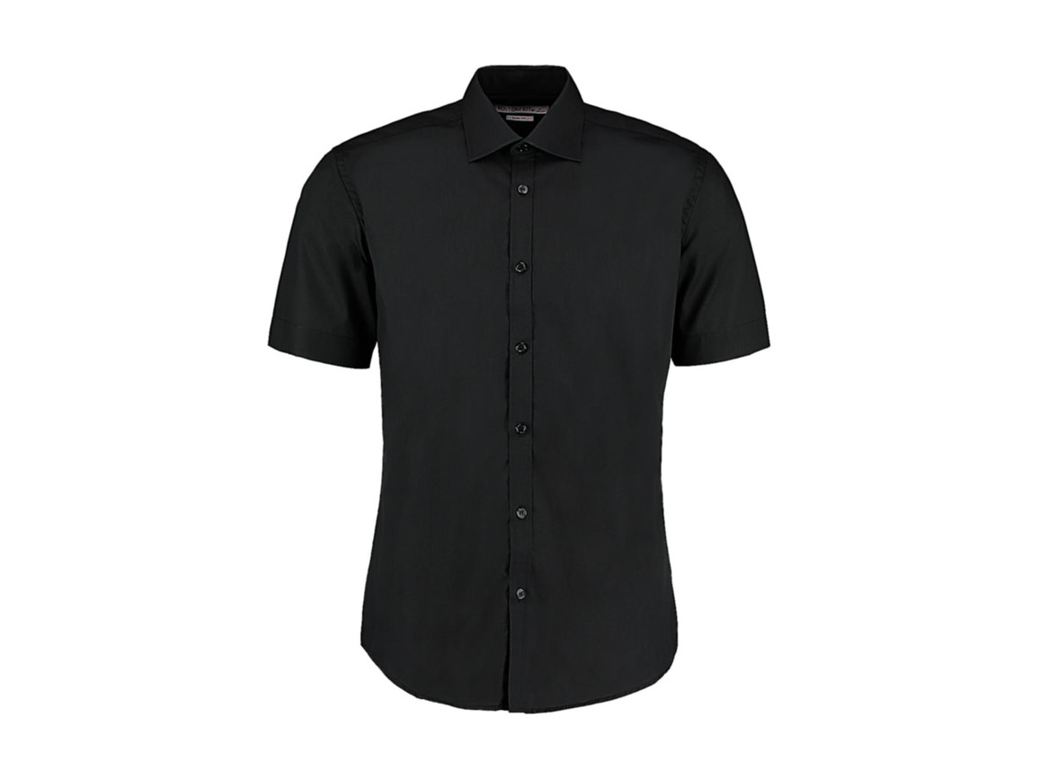 Kustom Kit Slim Fit Business Shirt, Black, S bedrucken, Art.-Nr. 791111011