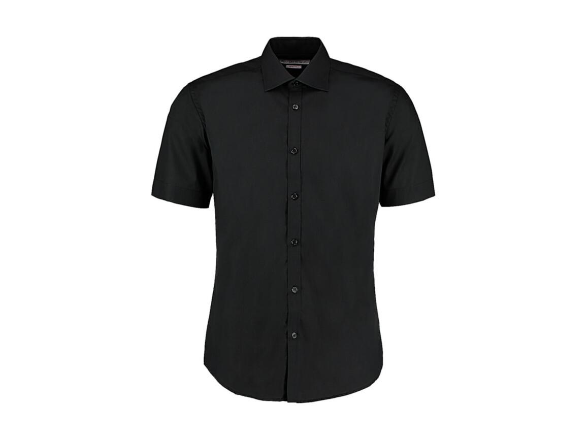 Kustom Kit Slim Fit Business Shirt, Black, XL bedrucken, Art.-Nr. 791111017