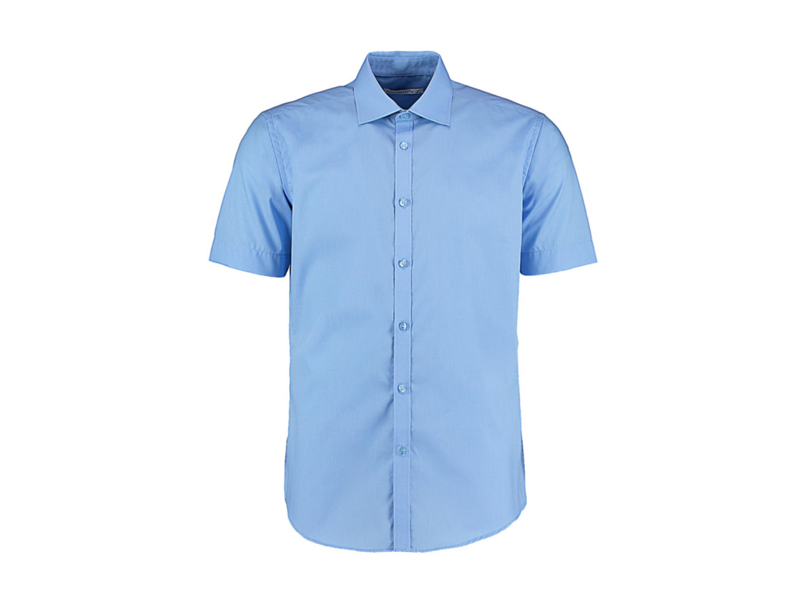 Kustom Kit Slim Fit Business Shirt, Light Blue, L bedrucken, Art.-Nr. 791113215