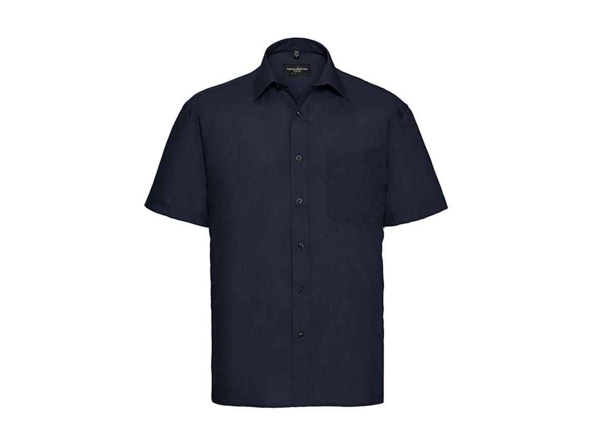 Russell Europe Poplin Shirt, French Navy, XL bedrucken, Art.-Nr. 792002016