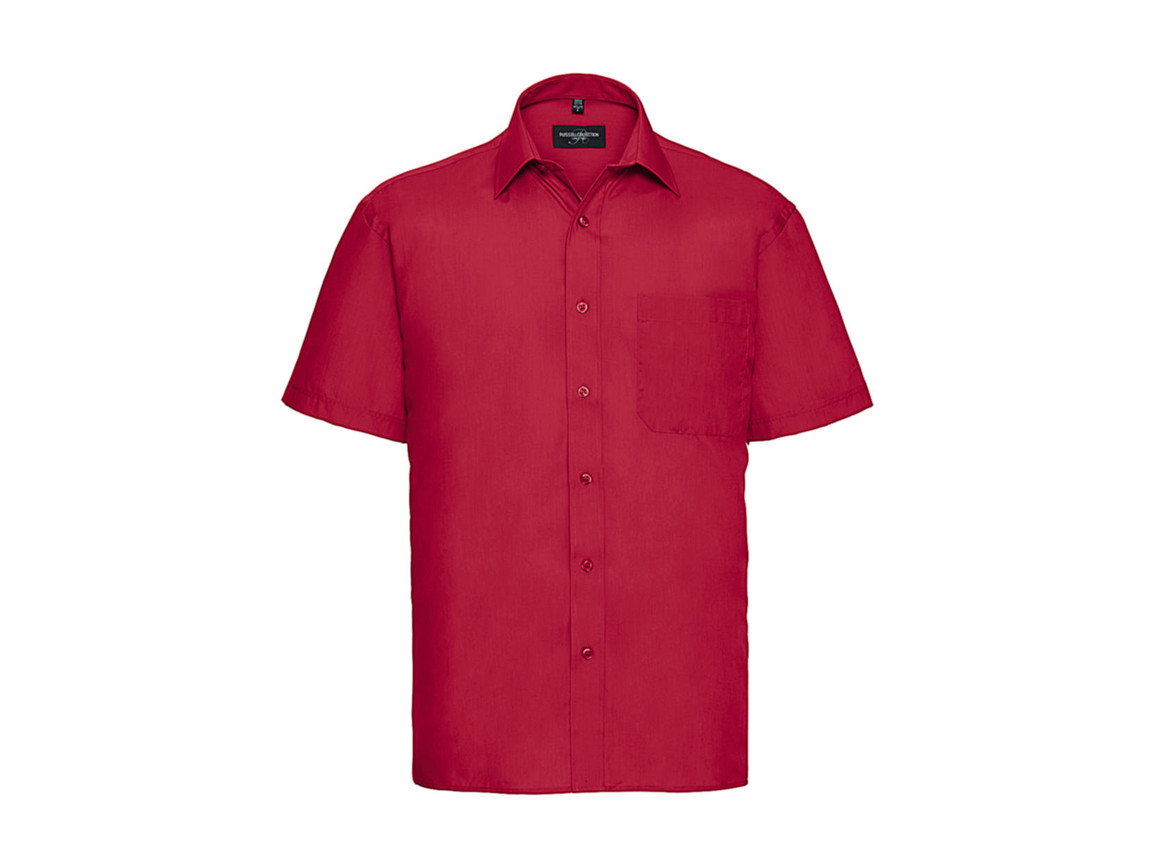 Russell Europe Poplin Shirt, Classic Red, 3XL bedrucken, Art.-Nr. 792004018