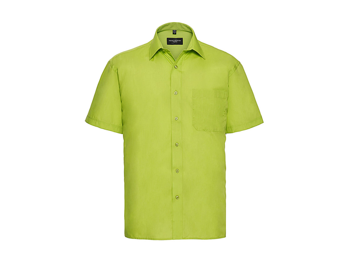 Russell Europe Poplin Shirt, Lime, 2XL bedrucken, Art.-Nr. 792005217