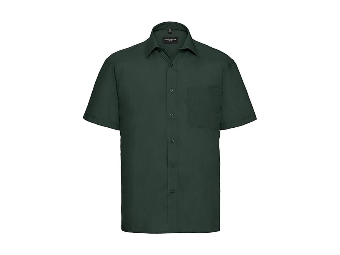 Russell Europe Poplin Shirt, Bottle Green, 2XL bedrucken, Art.-Nr. 792005407
