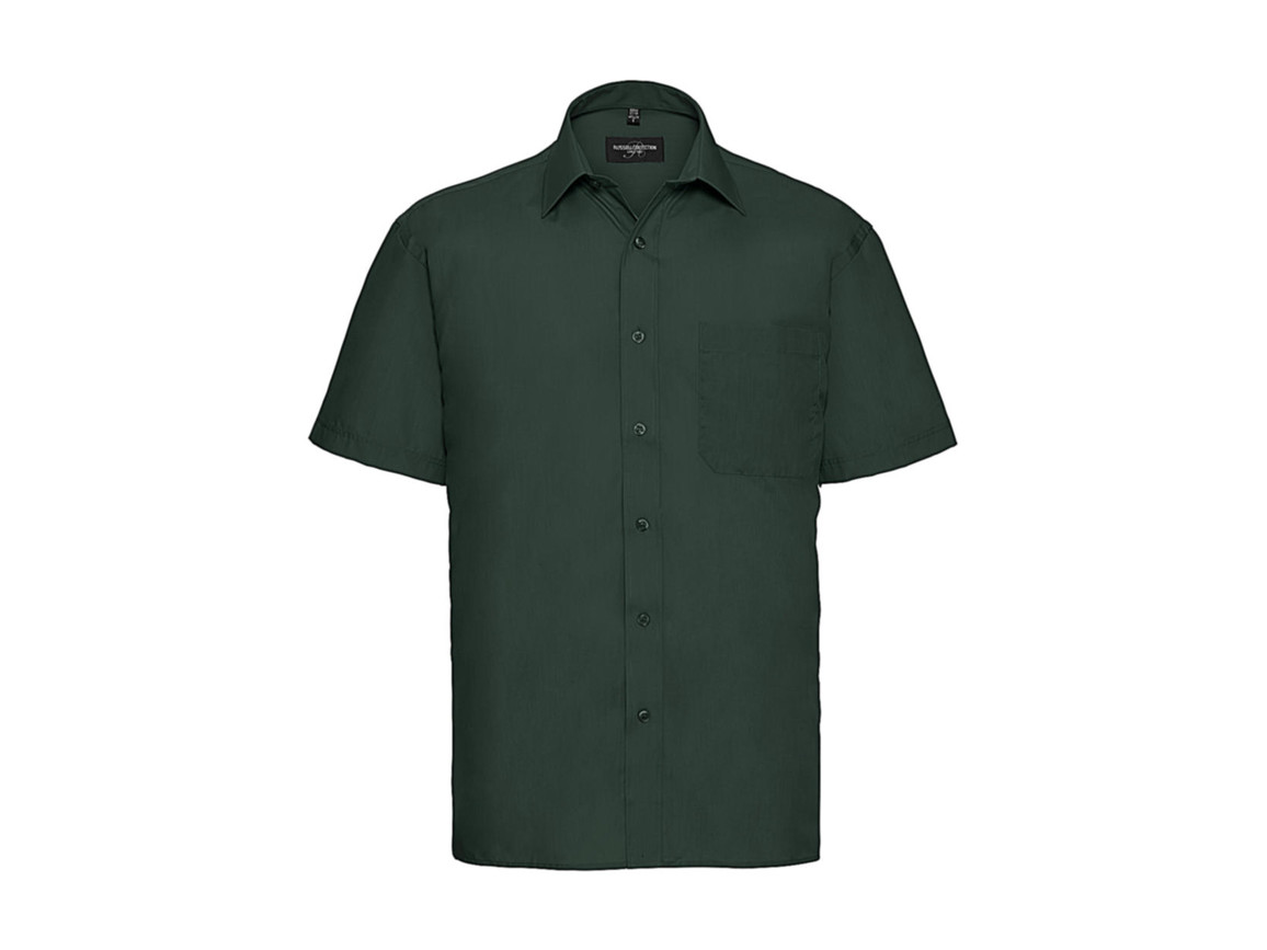 Russell Europe Poplin Shirt, Bottle Green, XL bedrucken, Art.-Nr. 792005406