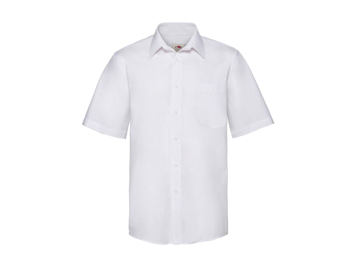 Fruit of the Loom Poplin Shirt, White, 3XL bedrucken, Art.-Nr. 792010008