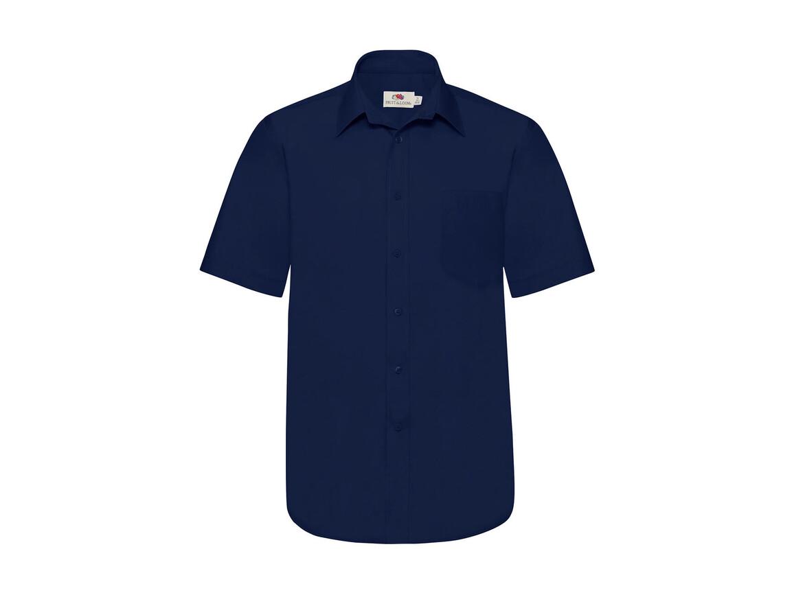 Fruit of the Loom Poplin Shirt, Navy, L bedrucken, Art.-Nr. 792012005
