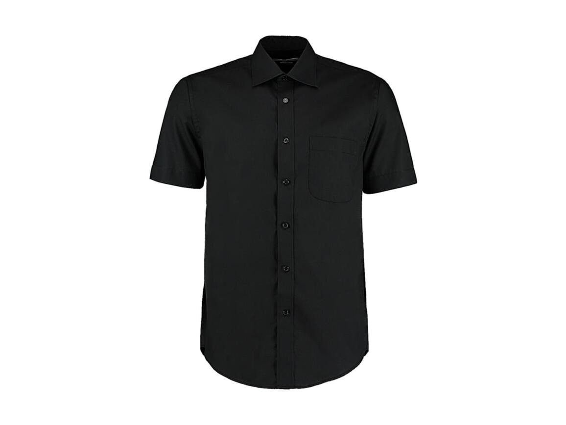 Kustom Kit Classic Fit Business Shirt SSL, Black, XL bedrucken, Art.-Nr. 792111017