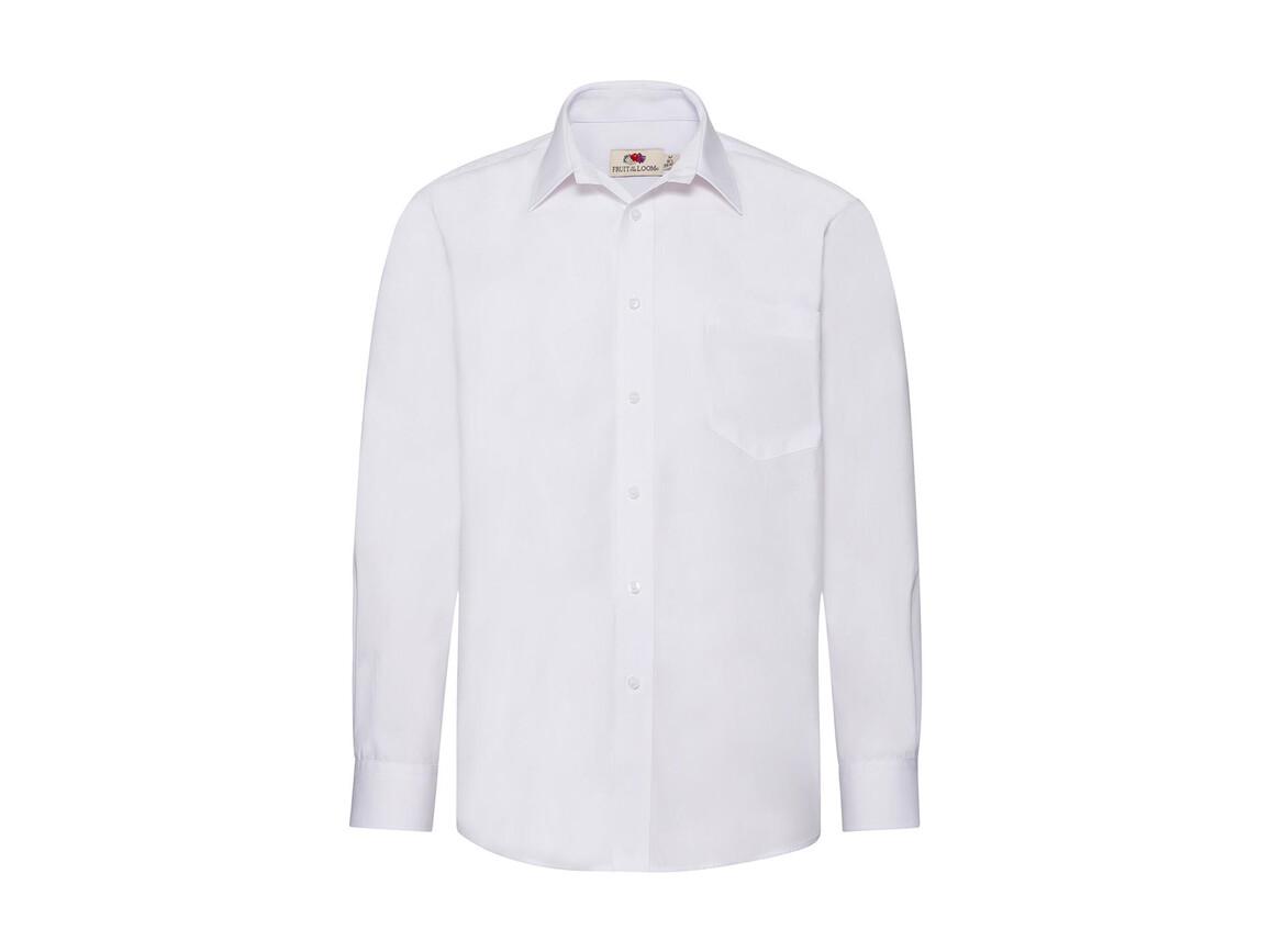 Fruit of the Loom Poplin Shirt LS, White, S bedrucken, Art.-Nr. 794010003