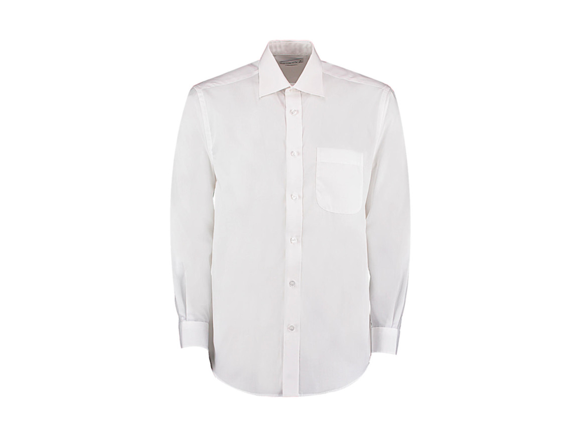 Kustom Kit Classic Fit Business Shirt, White, S bedrucken, Art.-Nr. 794110001