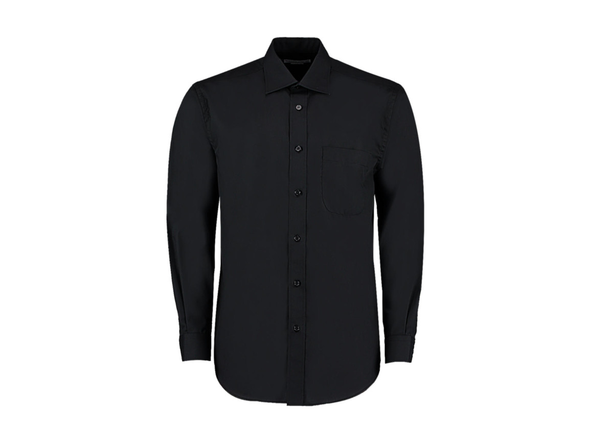 Kustom Kit Classic Fit Business Shirt, Black, L bedrucken, Art.-Nr. 794111015
