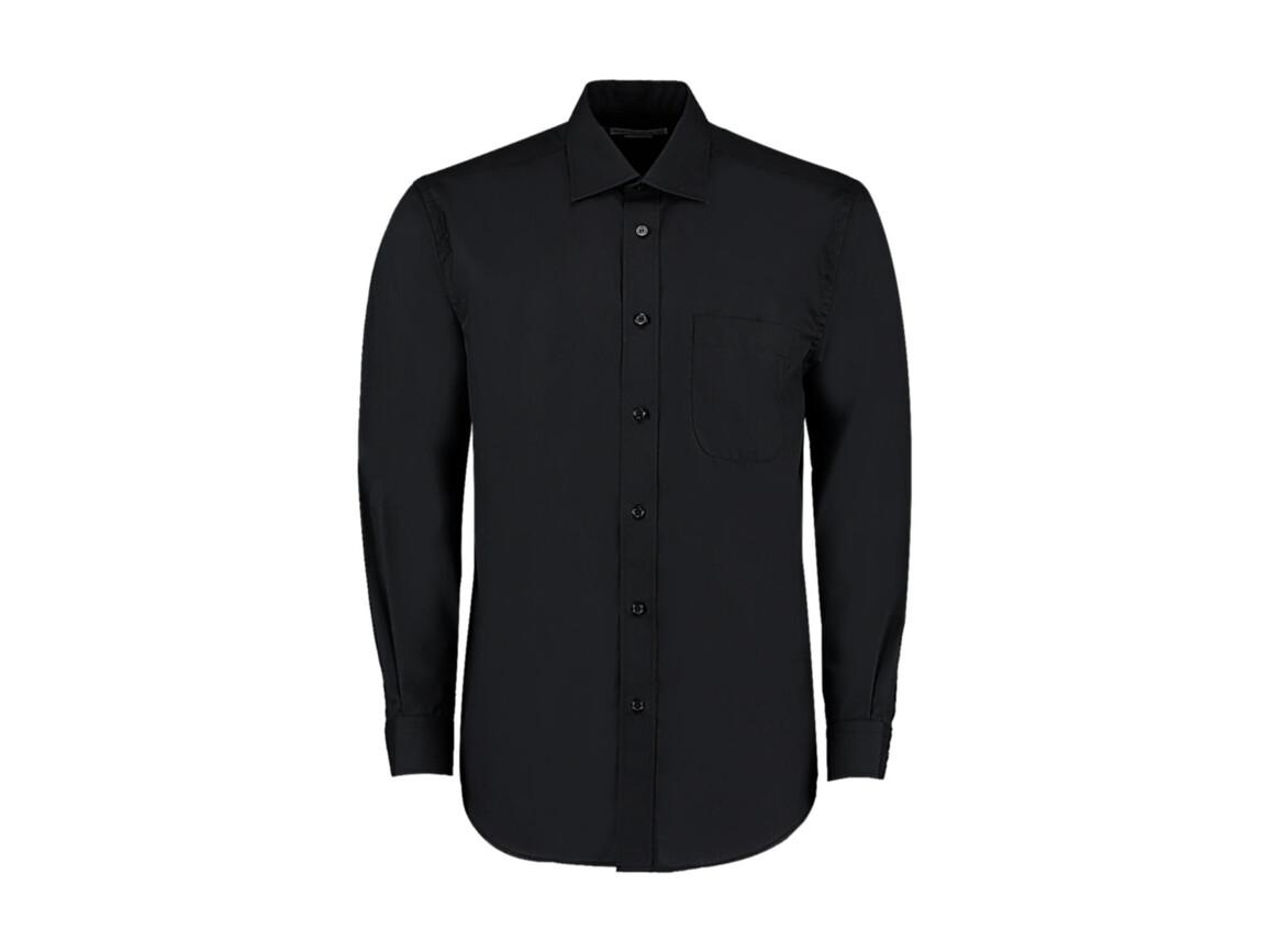 Kustom Kit Classic Fit Business Shirt, Black, L bedrucken, Art.-Nr. 794111015