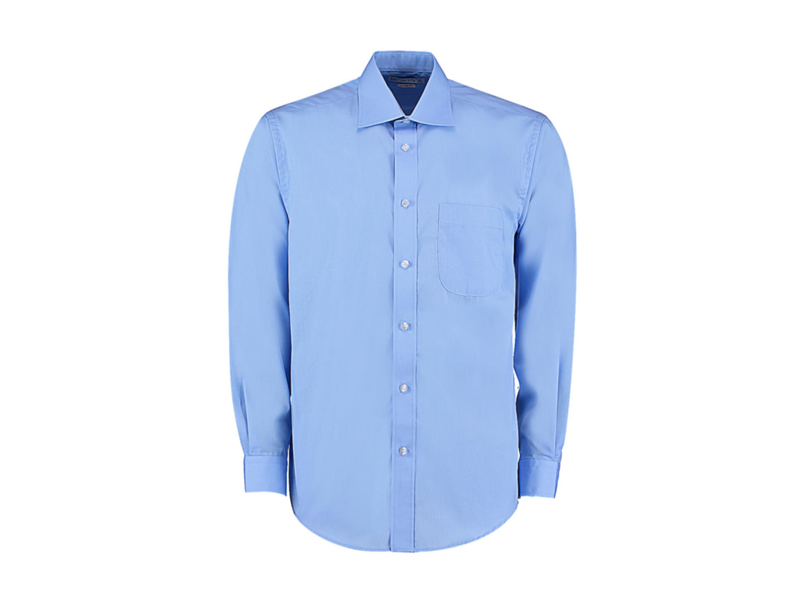 Kustom Kit Classic Fit Business Shirt, Light Blue, S bedrucken, Art.-Nr. 794113211