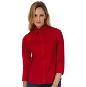 B & C Milano/women Popelin Shirt 3/4 sleeves bedrucken, Art.-Nr. 79642