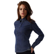 B & C DNM Vision/women Denim Shirt LS bedrucken, Art.-Nr. 79742