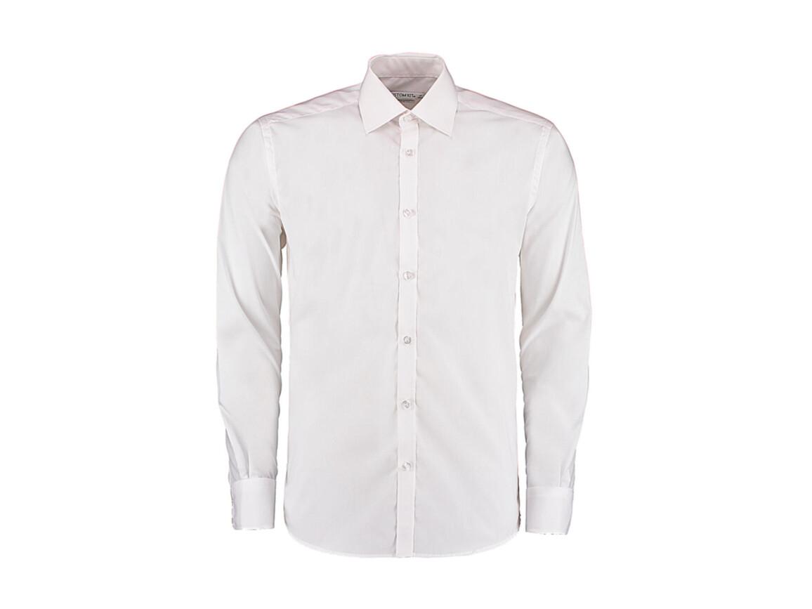 Kustom Kit Slim Fit Business Shirt LS, White, S bedrucken, Art.-Nr. 798110001