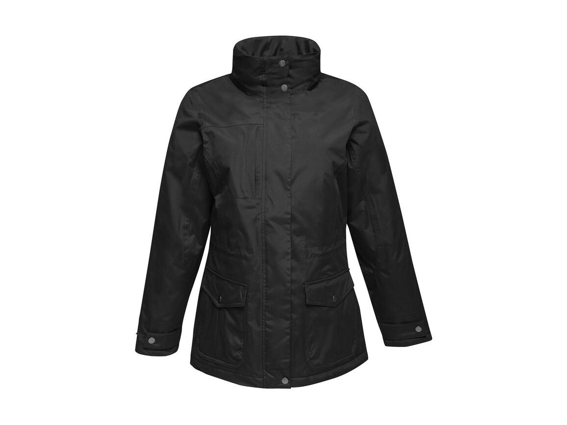 Regatta Women`s Darby III Jacket, Black, 12 (38) bedrucken, Art.-Nr. 869171014