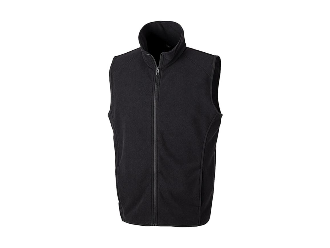 Result Micro Fleece Gilet, Black, XS bedrucken, Art.-Nr. 869331012