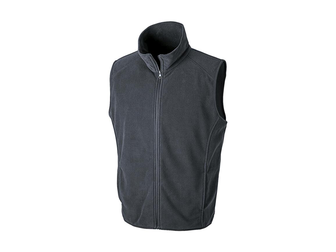 Result Micro Fleece Gilet, Charcoal, L bedrucken, Art.-Nr. 869331305