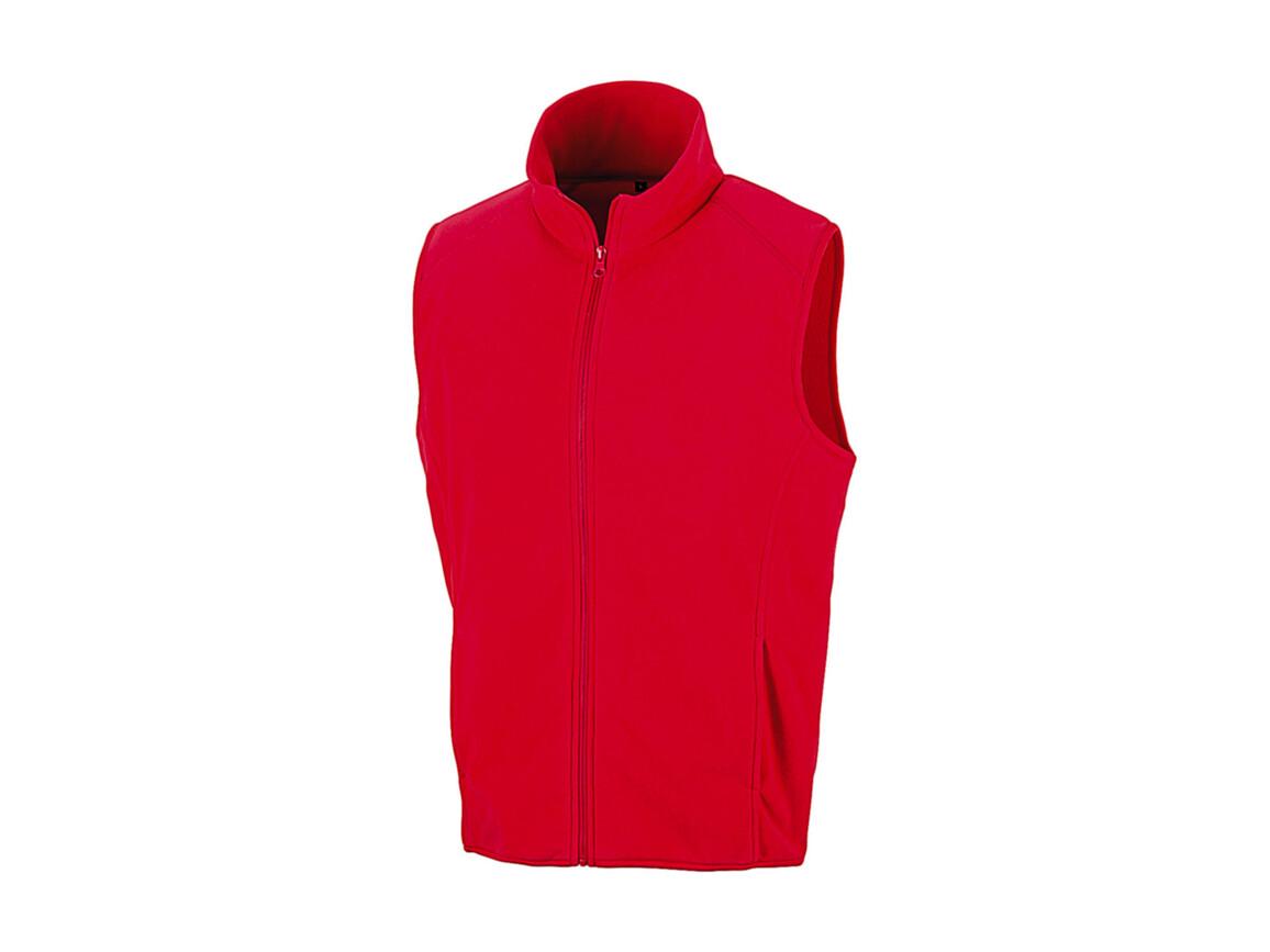 Result Micro Fleece Gilet, Red, XL bedrucken, Art.-Nr. 869334006