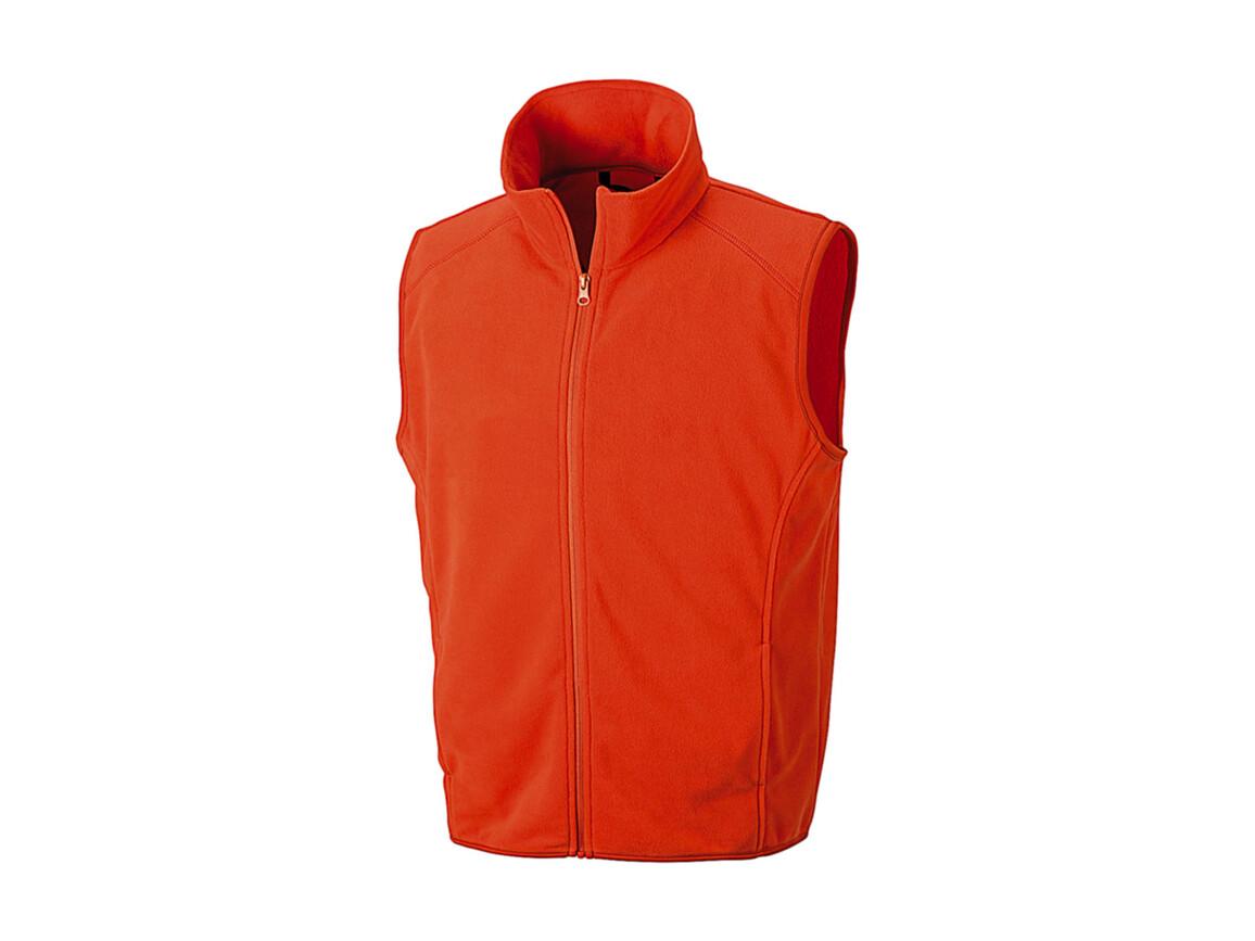 Result Micro Fleece Gilet, Orange, M bedrucken, Art.-Nr. 869334104
