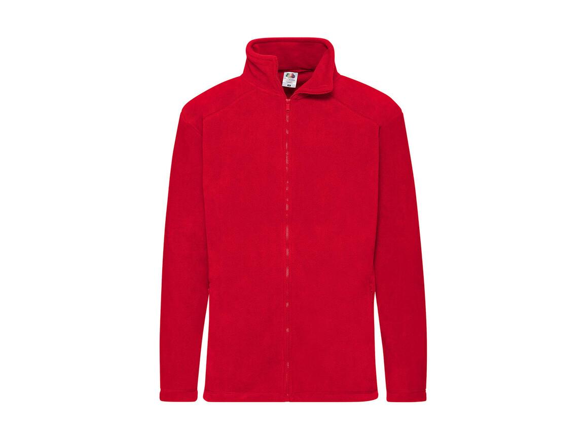 Fruit of the Loom Outdoor Full Zip Fleece, Red, M bedrucken, Art.-Nr. 870014004