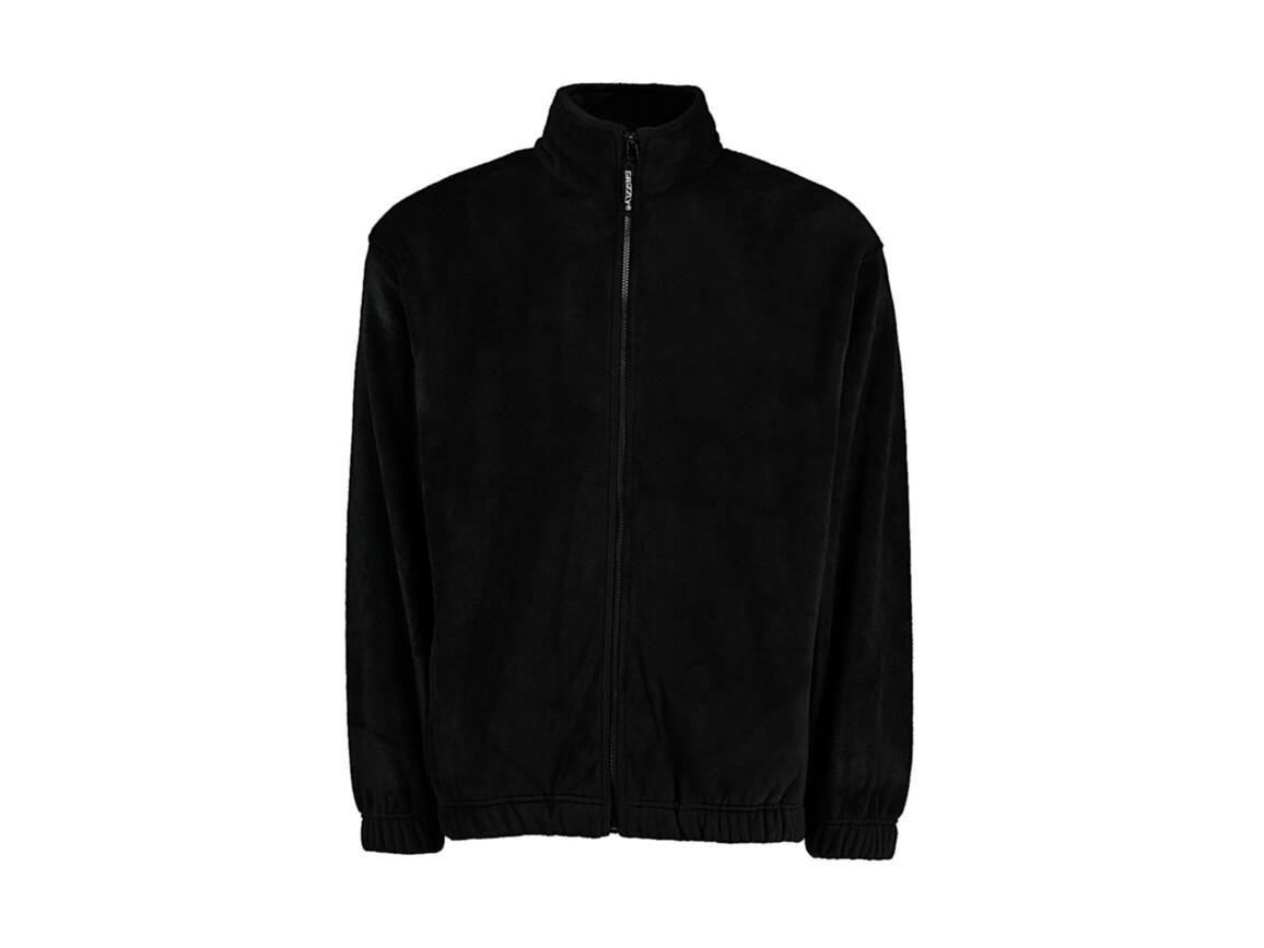 Kustom Kit Classic Fit Full Zip Fleece, Black, 2XL bedrucken, Art.-Nr. 870111017