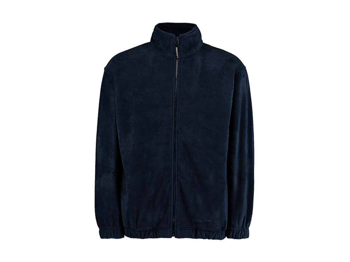 Kustom Kit Classic Fit Full Zip Fleece, Navy, 2XL bedrucken, Art.-Nr. 870112007