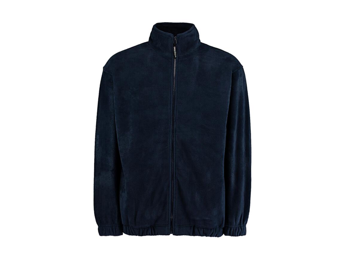 Kustom Kit Classic Fit Full Zip Fleece, Navy, XL bedrucken, Art.-Nr. 870112006