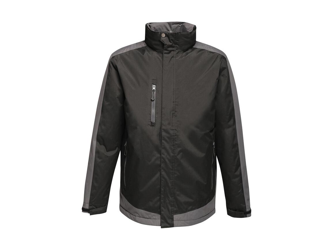Regatta Contrast Insulated Jacket, Black/Seal Grey, 2XL bedrucken, Art.-Nr. 872171517