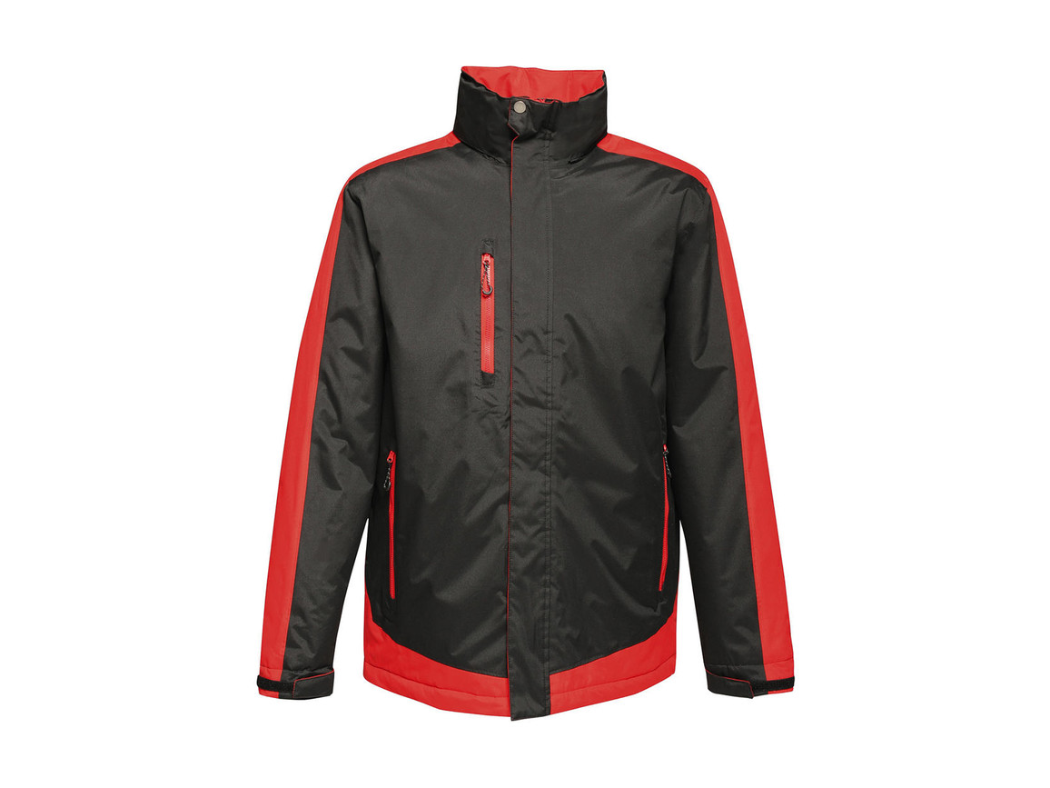 Regatta Contrast Insulated Jacket, Black/Classic Red, S bedrucken, Art.-Nr. 872171573