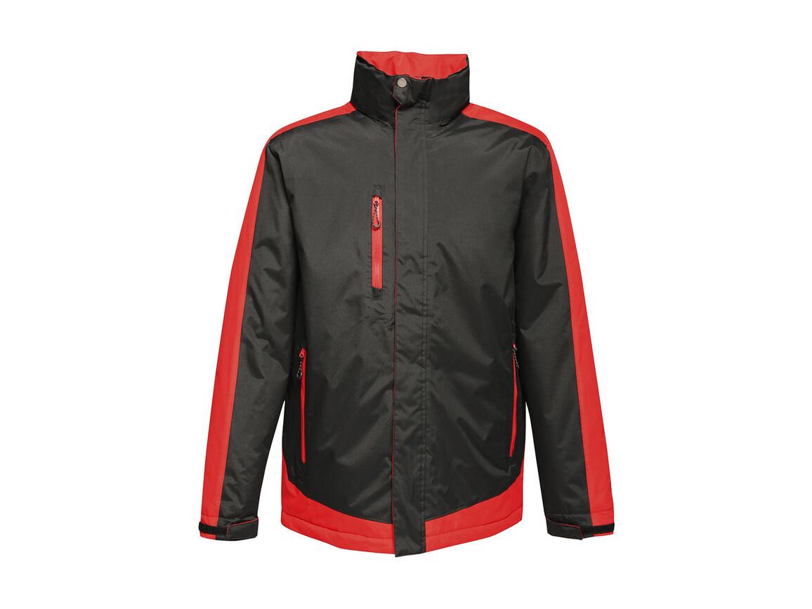 Regatta Contrast Insulated Jacket, Black/Classic Red, XL bedrucken, Art.-Nr. 872171576