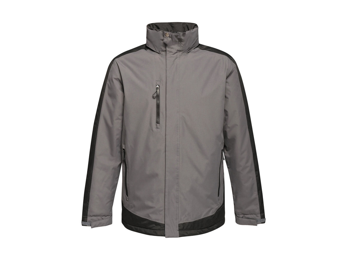 Regatta Contrast Insulated Jacket, Seal Grey/Black, 3XL bedrucken, Art.-Nr. 872171588