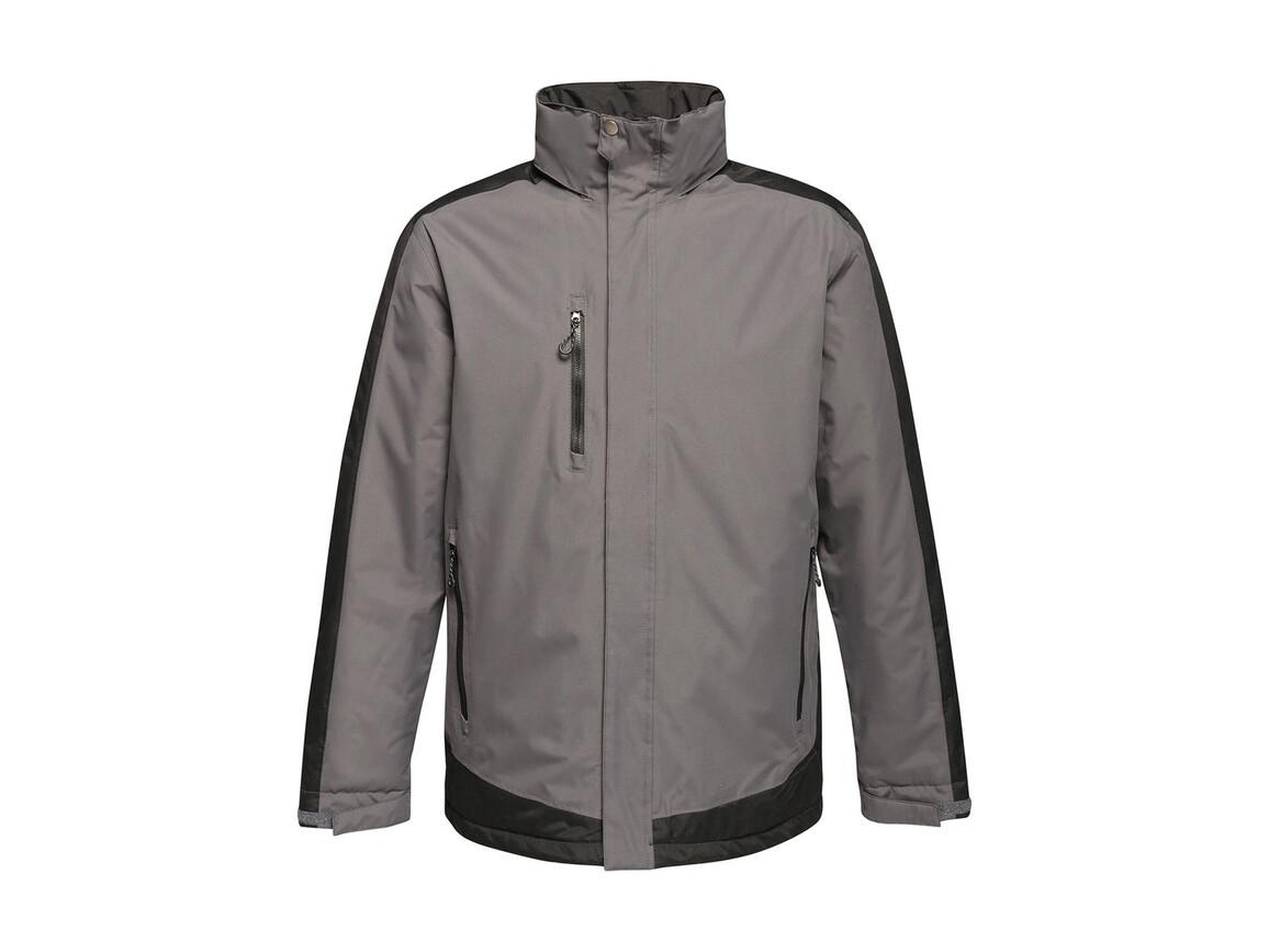 Regatta Contrast Insulated Jacket, Seal Grey/Black, 4XL bedrucken, Art.-Nr. 872171589
