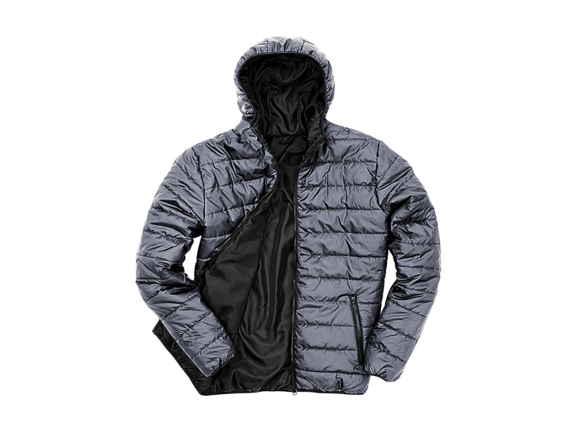 Result Soft Padded Jacket, Frost Grey/Black, 2XL bedrucken, Art.-Nr. 872331967