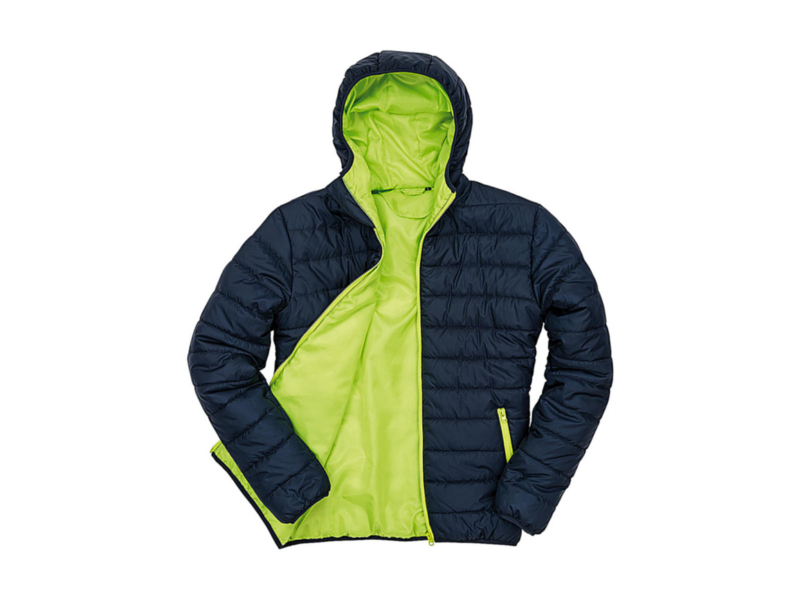 Result Soft Padded Jacket, Navy/Lime, 2XL bedrucken, Art.-Nr. 872332567