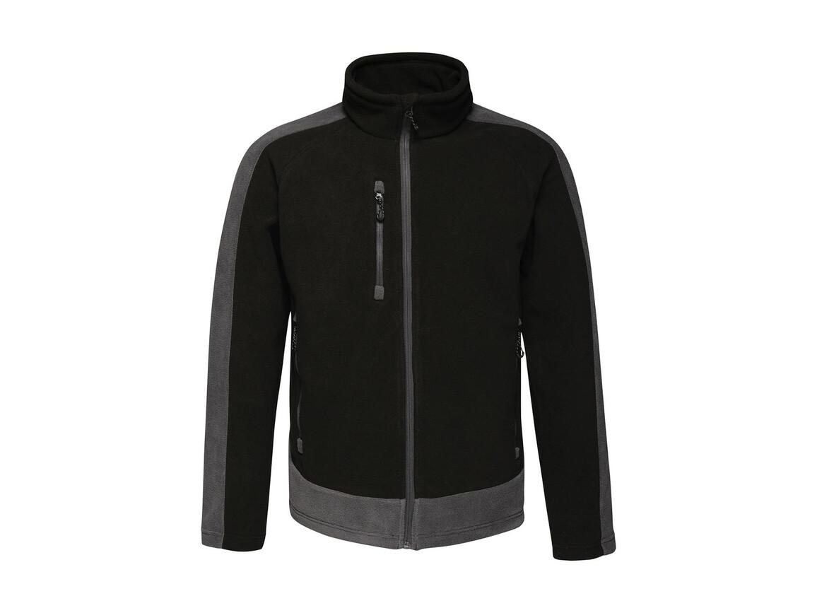 Regatta Contrast 300G Fleece, Black/Seal Grey, 2XL bedrucken, Art.-Nr. 874171517