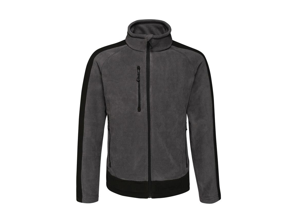Regatta Contrast 300G Fleece, Seal Grey/Black, S bedrucken, Art.-Nr. 874171583