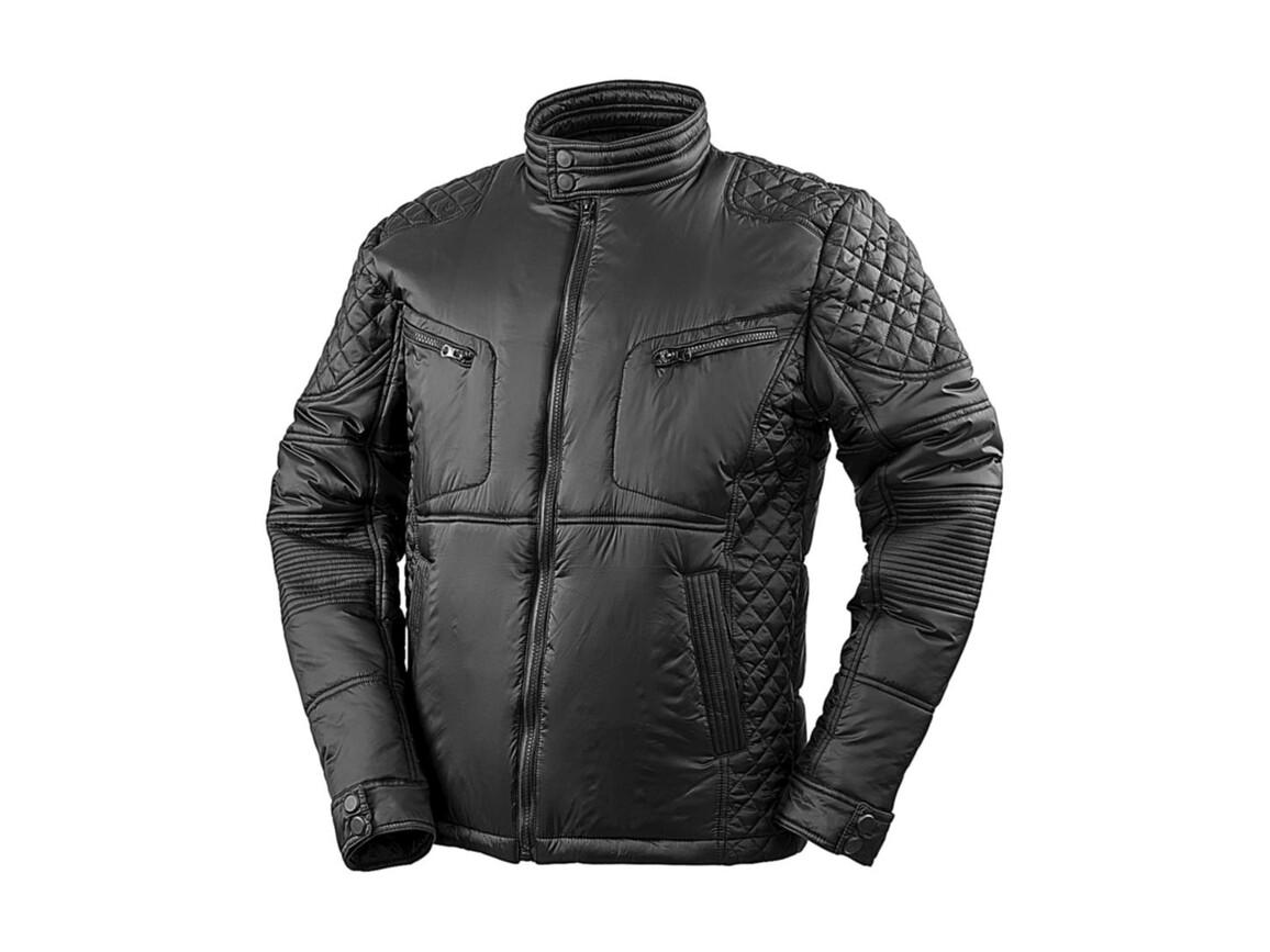 Result Biker-Style Jacket, Black, 3XL bedrucken, Art.-Nr. 874331018