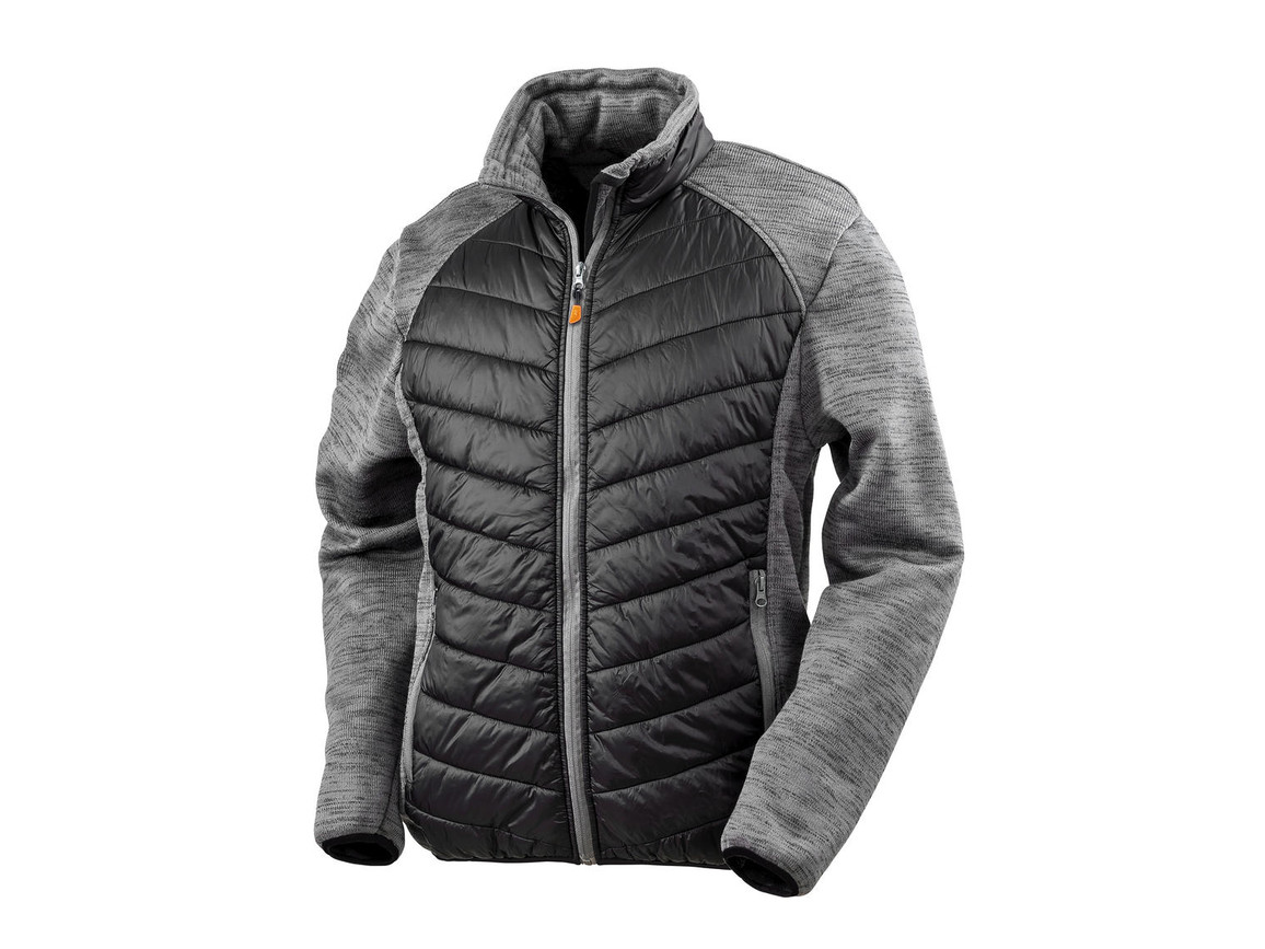 Result Elevator Jacket, Black/Grey Marl, L bedrucken, Art.-Nr. 875331455