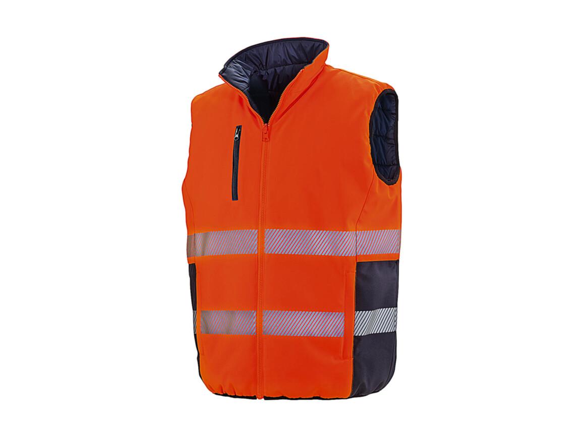 Result Reversible Soft Gilet, Fluo Orange/Navy, L bedrucken, Art.-Nr. 877334765