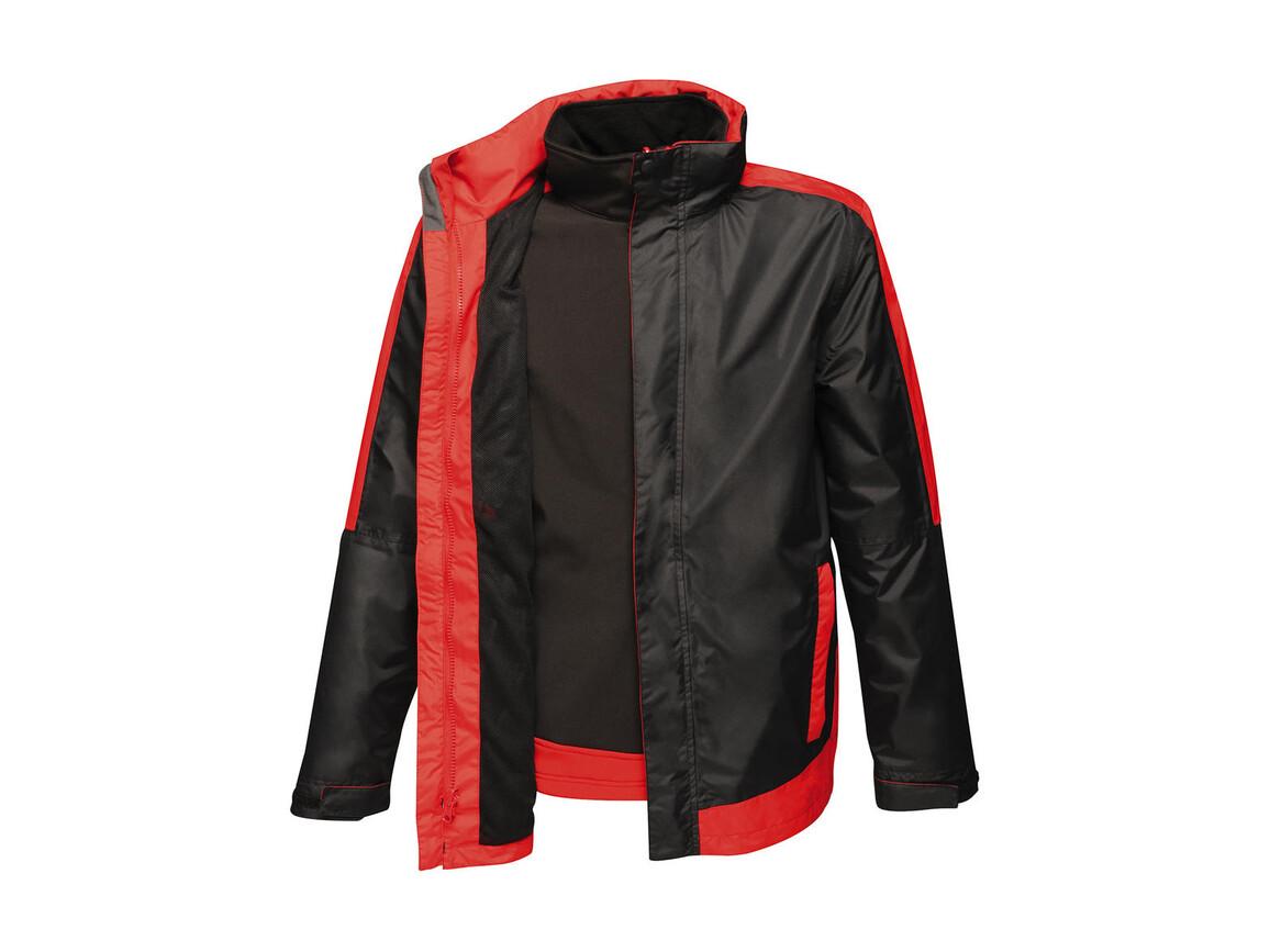 Regatta Contrast Softshell 3-in-1 Jacket, Black/Classic Red, S bedrucken, Art.-Nr. 882171573