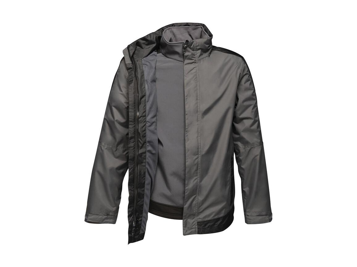 Regatta Contrast Softshell 3-in-1 Jacket, Seal Grey/Black, S bedrucken, Art.-Nr. 882171583