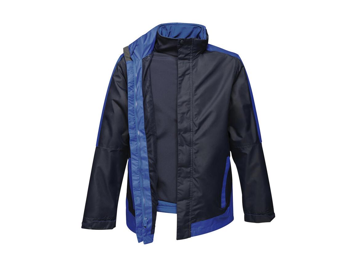 Regatta Contrast Softshell 3-in-1 Jacket, Navy/New Royal, L bedrucken, Art.-Nr. 882172615