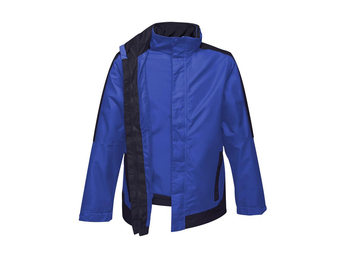 Regatta Contrast Softshell 3-in-1 Jacket, New Royal/Navy, XL bedrucken, Art.-Nr. 882173646